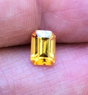 Emerald Cut Yellow Sapphire 1.73ct