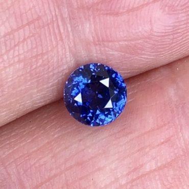 Ceylon Blue SapphireRound 6.7mm 1.79ct.