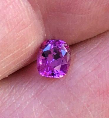 Hot Pink Cushion Ceylon Sapphire .91ct