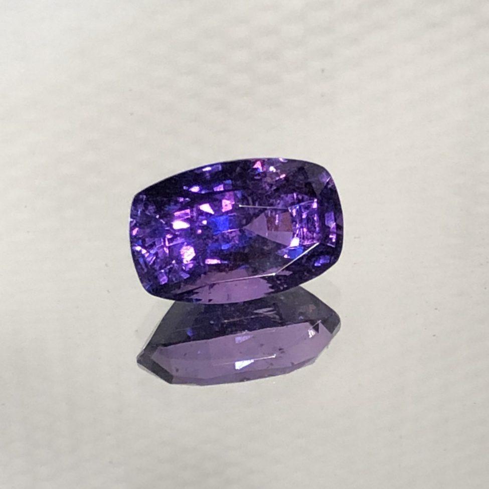 Beautiful Rectangular Purple Sapphire Cushion 1.85ct.