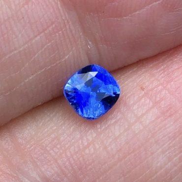 Ceylon Blue Sapphire Square Cushion•1.37ct