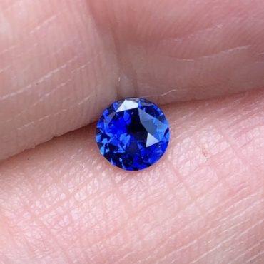 Ceylon Blue SapphireRound 5.3mm .65ct.