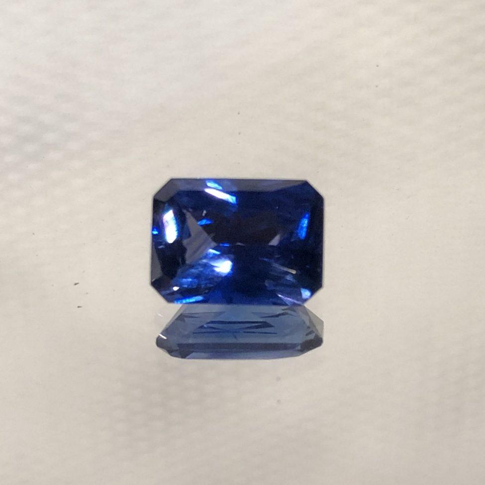Radiant Ceylon Blue Emerald Cut Sapphire1.73ct.