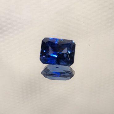 Radiant Emerald Cut Ceylon Blue Sapphire1.45ct.