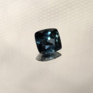 Ceylon Teal Green Sapphire Square Cushion • 1.11ct