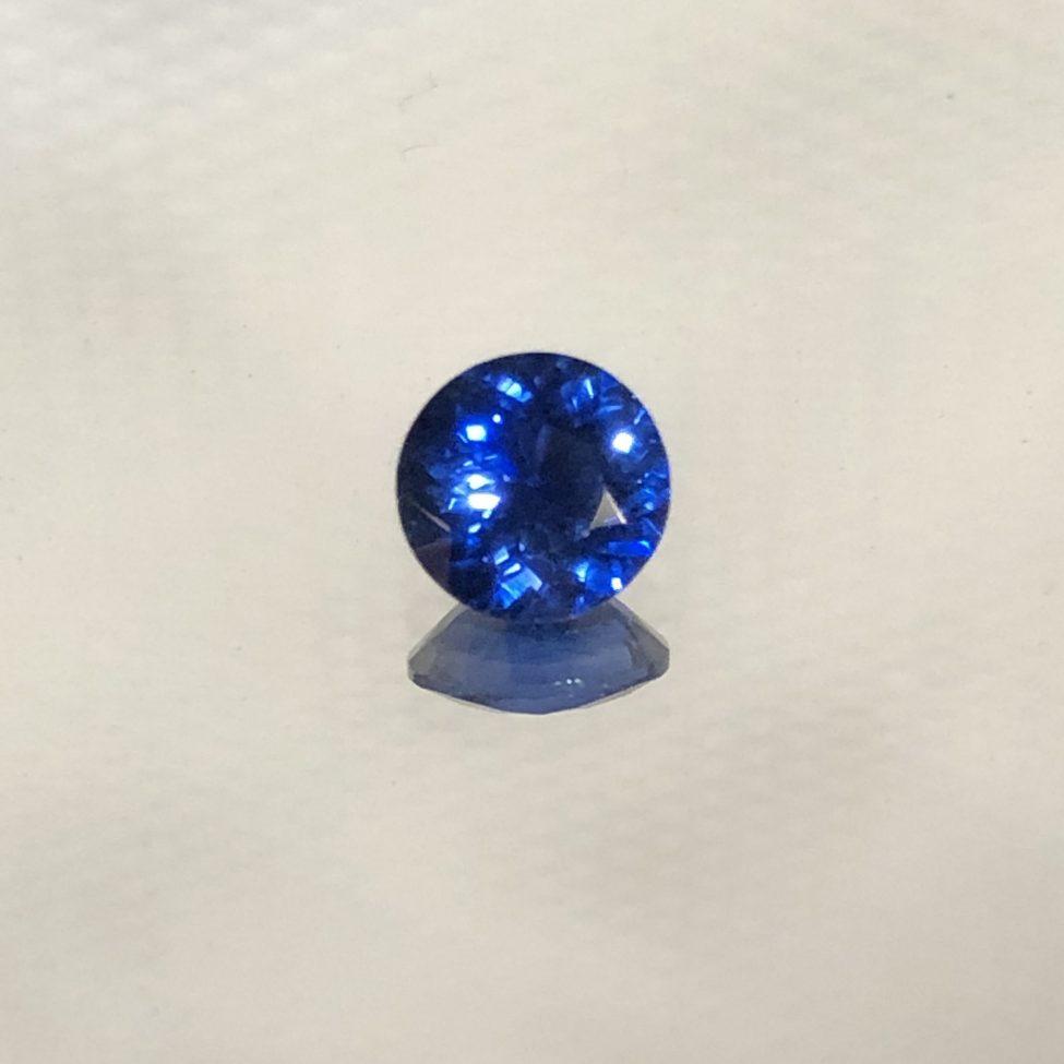 Ceylon Blue SapphireRound 5.1mm .67ct.