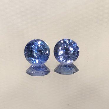 Fine Ceylon Blue SapphireRound Pair 5mm 1.27tw