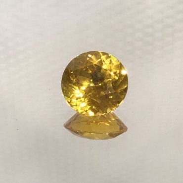 Intense Yellow Sapphire Round • 7mm 1.51ct.