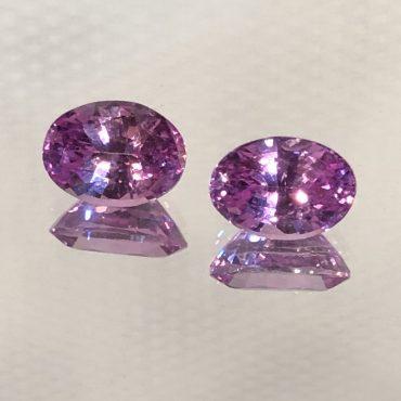 Intense Ceylon Pink SapphireOval Pair 2.07tw