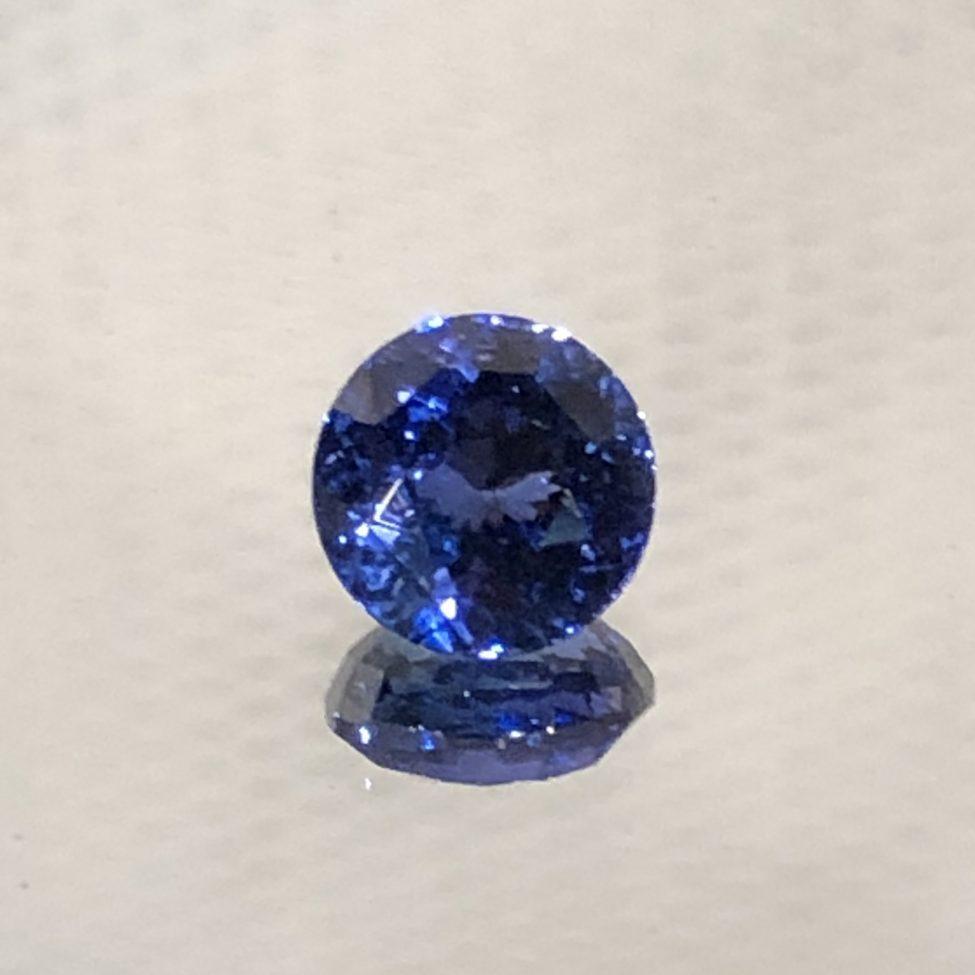 Ceylon Blue Sapphire Round 6.1mm 1.24ct