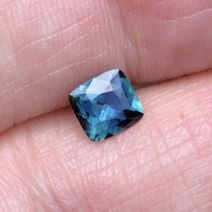 Teal Green Sapphire Square Cushion • 1.11ct